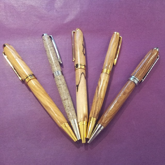 John - Handmade wooden and plastic pens